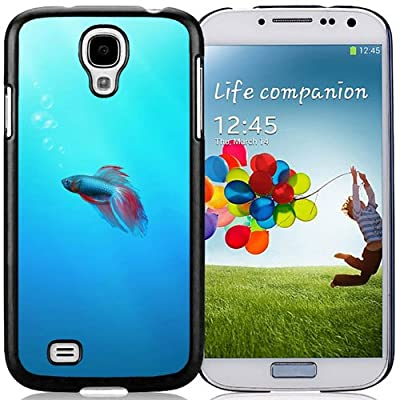 Easy Use,Unique Galaxy S4 Case Design with Colorful Fish Black Case for Samsung Galaxy S4 SIV S IV I9500 I9505 from PTS-Online