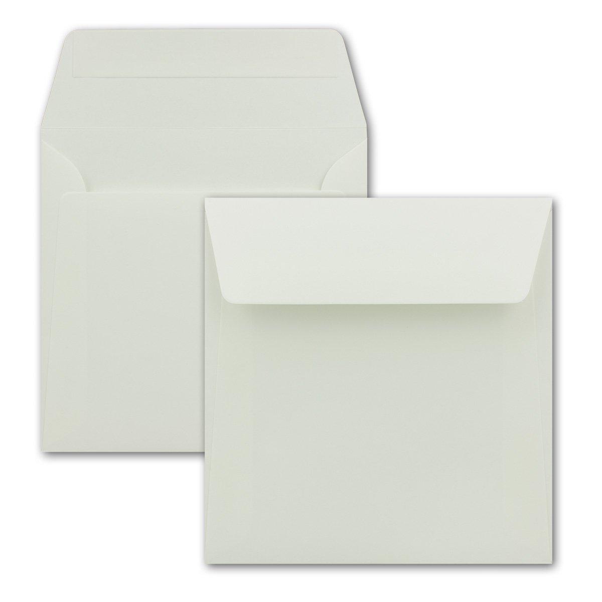 Buste di colore bianco, formato quadrato 160 x 160 mm, con striscia adesiva 200 Umschlä ge bianco formato quadrato 160x 160mm con striscia adesiva 200 Umschläge bianco NEUSER