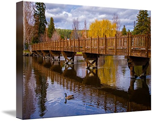Wall Art Print entitled Peaceful Reflections At Drake Park by Lynn Bauer | 24 x - Bend Park Willow