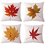 Usstore 4PC Thanksgiving Pillowcase Cover Home Decoration for Cafe Living Sofas Beds Room (B)