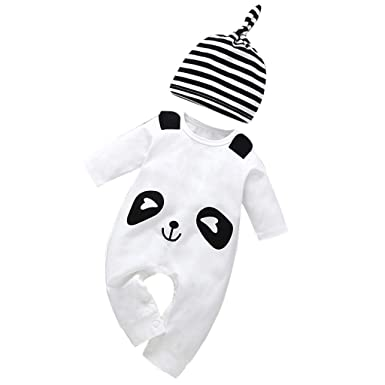 92999e5fe Amazon.com  WARMSHOP Newborn Baby Boys Girls 2 PC Cartoon Panda ...