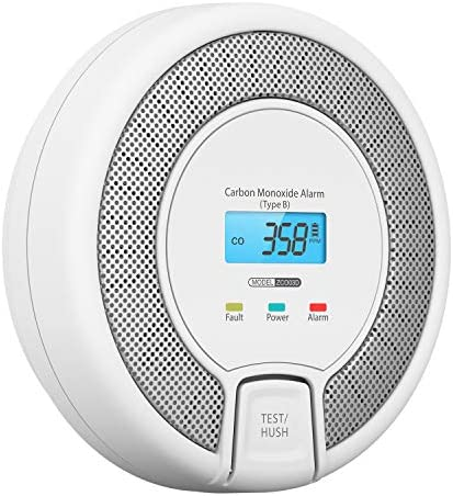 AVANTEK 10-Year Life Carbon Monoxide Alarm Detector, Replaceable Battery Operated CO Alarm Detector with Digital Display