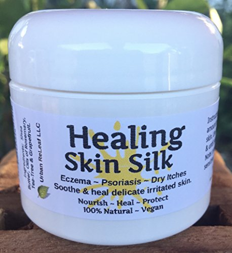 HEALING SKIN SILK, Heals Eczema Psoriasis, Dry Itchy Skin, Nourishing Skin Balm. Rich Plant Butters, Holistic NATURAL 2 oz Cream Lotion. Soothing to body & soul. Feed your skin... rub it in! Organic Shea Butter, Coconut & Olive Oil, Soywax, Healing Essential Oil Blend!.