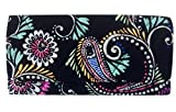 Vera Bradley Trifold Wallet (Bandana Swirl with Black Interior)