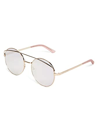 2f8dd525b409b G by GUESS Women s Round Mirrored Sunglasses at Amazon Women s Clothing  store