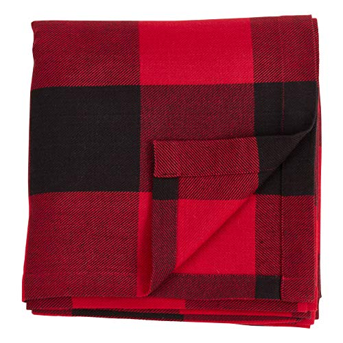 SARO LIFESTYLE Birmingham Collection Buffalo Plaid Cotton Curtains 54