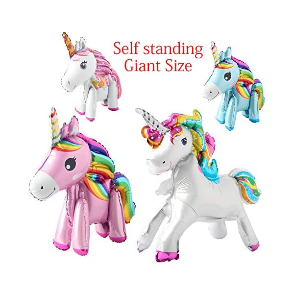 Self Stand steadily Unicorn Birthday Party Decorations Supplies Wedding Engagement Children's Day Foil Unicorn horse… 3