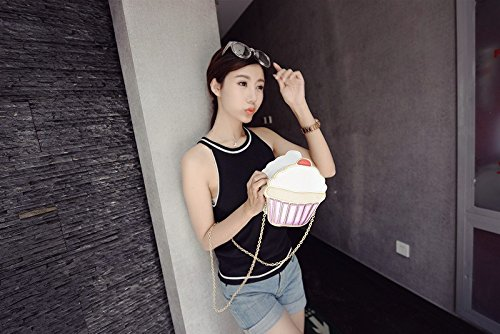 Lanpet-Yummy famous cupcake design woman cross-body bag attractive ice-cream party Small shoulder bag small exquisite handbag Y06