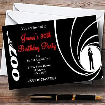 Amazon Com 10 X James Bond Customized Party Invites Party Disco