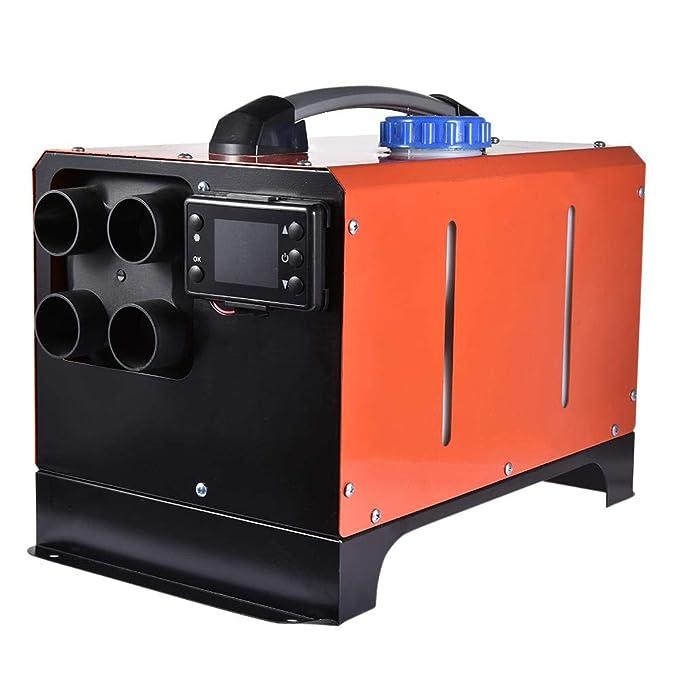 ningxiao586 5KW 12V// 24V Diesel Luftheizung Fernbedienung Fahrzeugheizung Diesel Lufterhitzer 4 L/öcher LCD Monitor Thermostat Air Standheizung Auto Heizung mit LCD-Schl/üssel Schalter Schalld/ämpfer