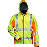 Elysee 22735-L Warnschutz-Softshelljacke Adam Größe L in gelb/orange