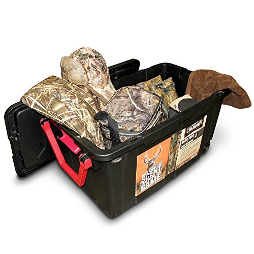Scent Crusher Hard Tote to Scent Crusher Tote with Ozone Generator, Destroys Odors within 30 mins., Heavy Duty 40 Gal. Tote, Great for Permanent Storage or Traveling, Padlock Compatible by Scent Crusher (Image #3)