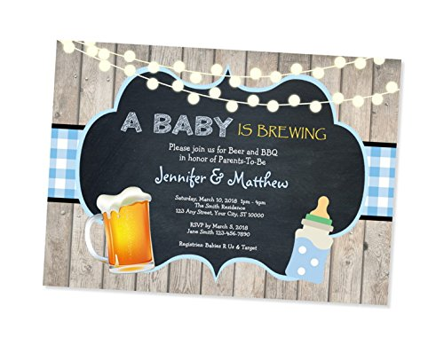 amazon com baby is brewing invitation barbecue bbq beer baby