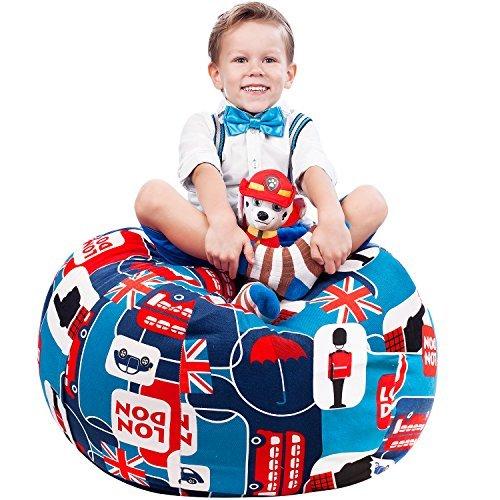 Puf de almacenamiento de animales de 5 estrellas con relleno de Reino Unido, silla para niños y adolescentes, con icono de...