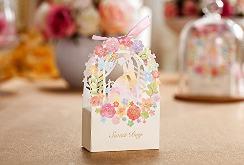 Worldoor® 50ps Romantic Wedding Gift Box Elegant White