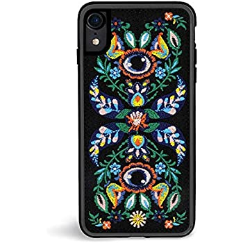 21c303ad91 Zero Gravity iPhone XR Venus Phone Case - Floral and Vines Embroidery -  360° Protection, Drop Test Approved