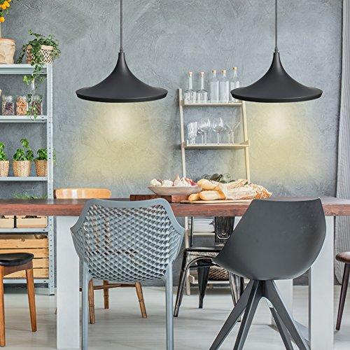 CCLIFE Industrial Lampe Pendellampe Pendelleuchte Hängelampe Deckenlampe  Hängeleuchte Vintage Retro Schwarz 19cm E27 Leuchtmittel 60W Küchen  Esszimmer ...