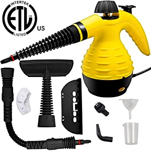 Handheld Steam Cleaner, Lovin Product HIGH-PRESSURE Chemical Free Steamer; ALL IN ONE; ETL LISTED; Removing Grease, Stains, Mold and more for Home, Auto, Patio