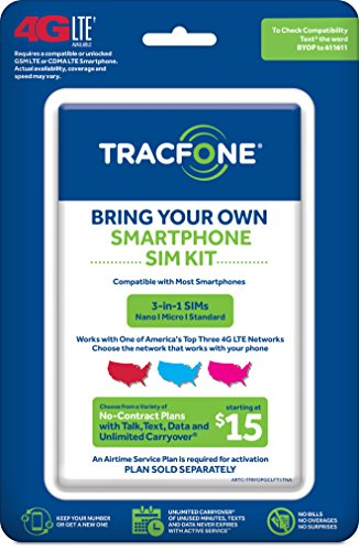 Tracfone Bring Your Own Phone Sim Activation Kit  Triple Punch