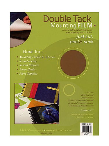 (Grafix Double Tack Mounting Film 9 in. x 12 in. pack of 3 [PACK OF 3 ])
