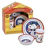 Peanuts 3 Piece Dinnerware Set, Snoopy – Americana