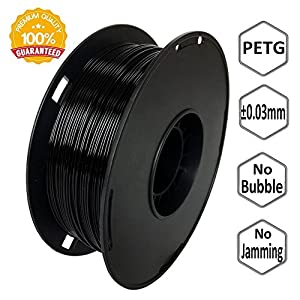 NovaMaker 3D Printer filament - Black 1.75mm PETG Filament, PETG 1kg(2.2lbs), Dimensional Accuracy +/- 0.03mm from NovaMaker