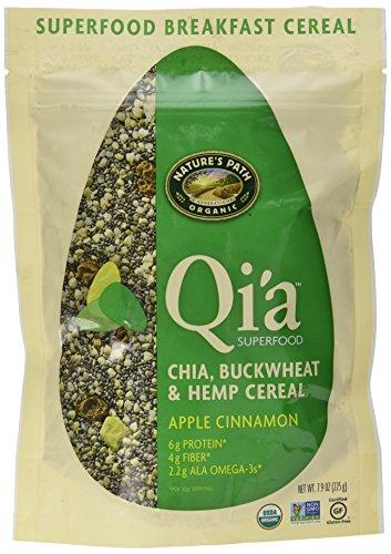 Natures Path Organic Qia Gluten-Free Superfood Chia, Buckwheat & Hemp Cereal, Apple Cinnamon, 7.9 Ounce