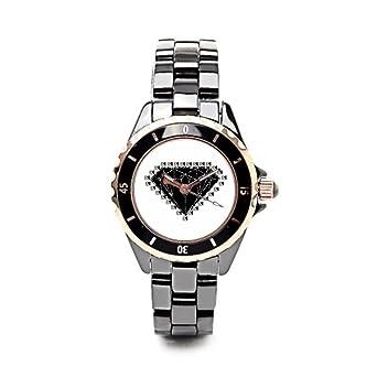 Fashion Armbanduhr Diamanten Besetzt Gunstige Keramik Uhren Amazon