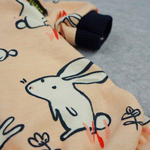 Fitwarm Pink Bunny Cotton Dog Pajamas Pet Clothes Shirts PJS Jumpsuit XXL by Fitwarm (Image #2)