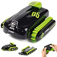 The Amphibious Car can be a car on the land and transforming to a boat in the water. By pressing the transformation key on the remote control, the stunt car will transform from the car to the boat. Running perfectly on land, beach, wetland, g...