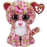 Ty UK Ltd 36312 Lainey Leopard - Beanie Boos Plush Toy, Multicoloured, 15cm