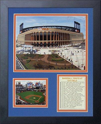 """Legenden Sterben Nie """"New York Mets Citi Field Außerhalb"""" gerahmtes Foto Collage, 11 x 35,6 cm von Legends Never Die"""