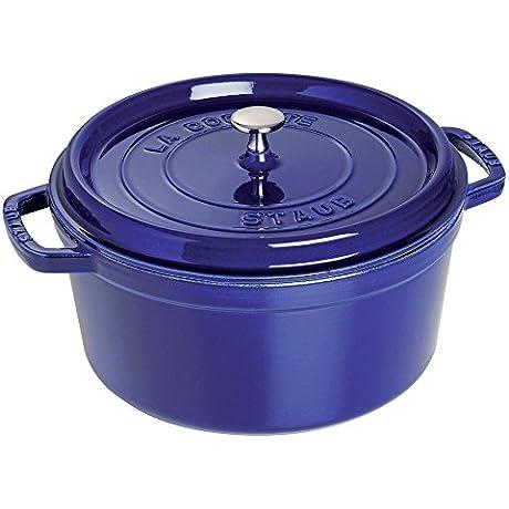 Staub 1102691 Round Cocotte Oven 5 5 Quart Dark Blue