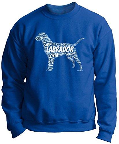 Dog Clothes Labrador Retriever Word Art Dog Puppy Owner Gift Premium Crewneck Sweatshirt Small Royal