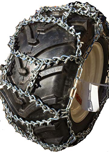 TireChain.com Duo Grip V-Bar ICE Tractor tire Chains 23x10.50-12 Lawn Tractor and Garden Tractor