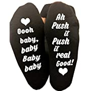 Oh Baby Push It Labor Delivery Maternity Hospital Socks Pregnancy Funny Gag Gift Baby Shower Gift