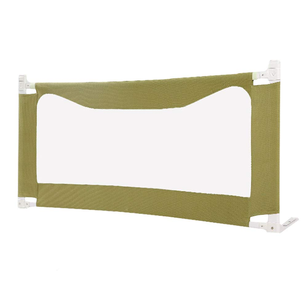 1.8m Portable Bed Rail, Folding Safety Infant Toddler Kids Predection Bed Guard, 80cm Height, Olive Green (Size   1.8m)