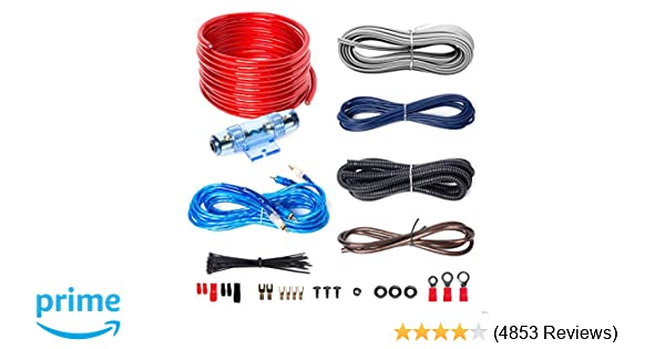amazon com boss audio kit2 8 gauge amplifier installation wiring Amp Wiring Chart boss audio kit2 8 gauge amplifier installation wiring kit \u2013 a car amplifier wiring kit helps you make connections and brings power to your radio,