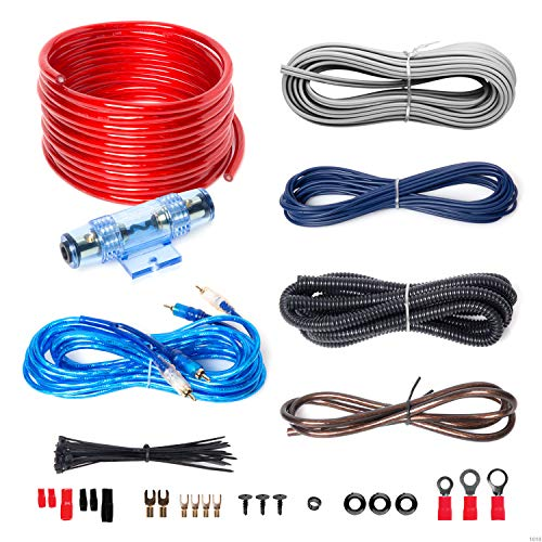 BOSS Audio Systems KIT2 8 Gauge Amplifier Installation Wiring Kit - A Car Amplifier Wiring Kit Helps You Make Connections and Brings Power to Your Radio, Subwoofers and Speakers (The Best Car Audio Subwoofers)