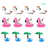 TIANYI Inflatable Unicorn Drink Cup Holder Pool Float Raft PVC Material Summer Perfect Pool Party Beach Water Recreation Leisure Cup Holder Toys