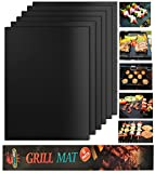 #7: Looch Grill Mat Set of 6- 100% Non-stick BBQ Grill & Baking Mats - FDA-Approved, PFOA Free, Reusable and Easy to Clean - Works on Gas, Charcoal, Electric Grill and More - 15.75 x 13 Inch