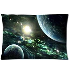 Beautiful Space Pattern Design,Earth Pillowcase,One Side Pillowcase Pillow Cover 20x30 inches