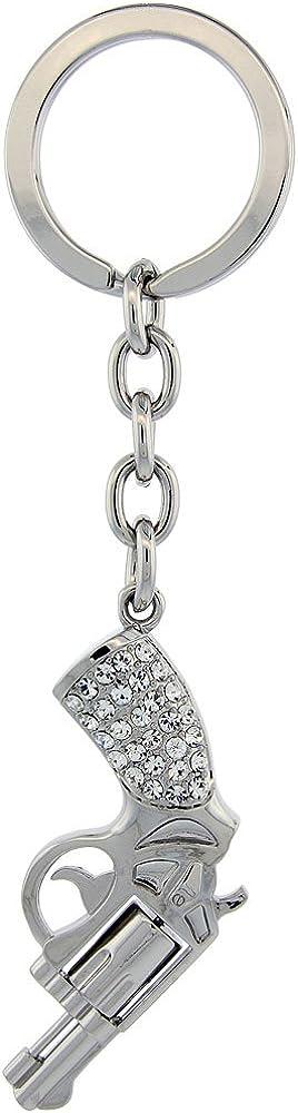 Dog Puppy Key Chain Key Ring Key Holder w// Brilliant Cut Crystals