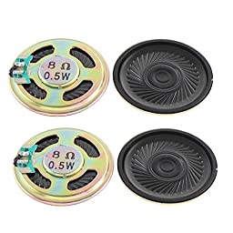8 Ohm 0.5W DVD Internal Magnet Mini Speaker Loudspeaker 40mm 4pcs