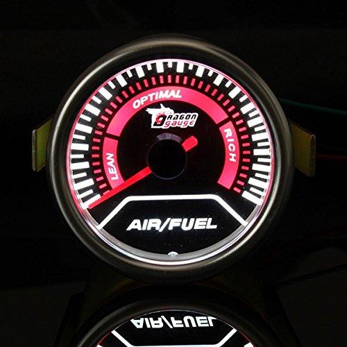 universal auto red led air\/fuel ratio car motor gauge meter B07F63RC6B
