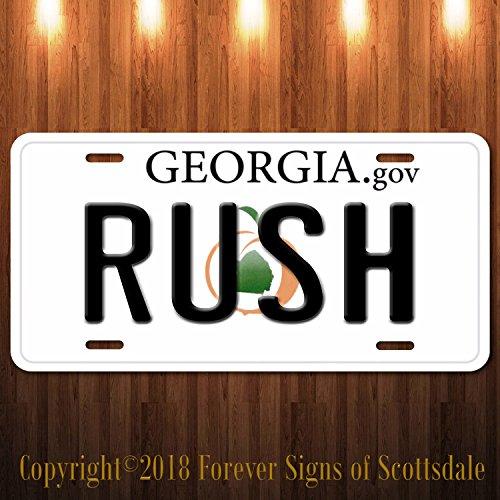 (Forever Signs Of Scottsdale Rush Canadian Rock Band Georgia Aluminum Vanity License)