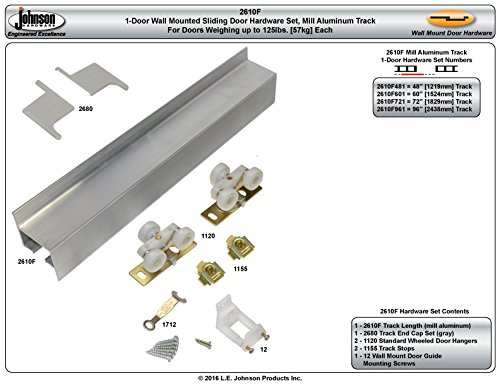 2610 Wall Mount Barn Door Type Sliding Door Hardware 72'' by Johnson Hardware (Image #3)