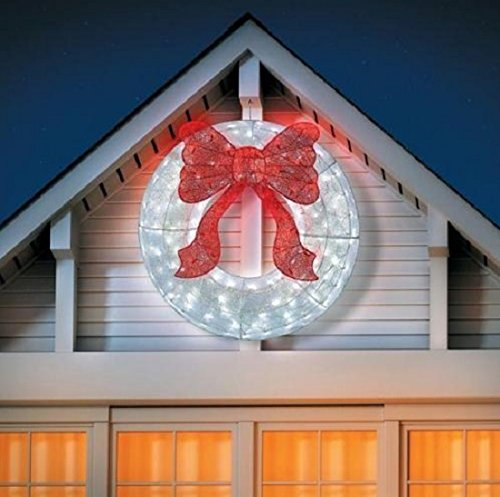 36 Inch Outdoor Lighted Wreath