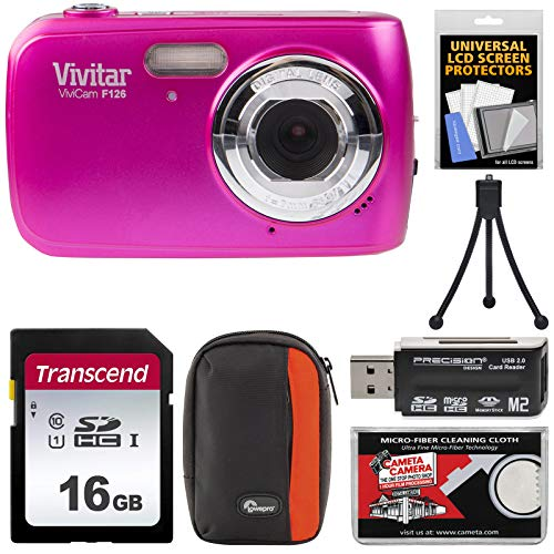 Vivitar ViviCam F126 Digital Camera (Pink) with 16GB, used for sale  Delivered anywhere in USA