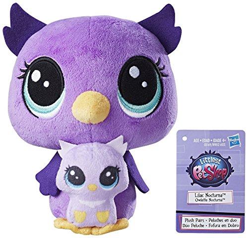 Littlest Pet Shop Lilac Nocturna and Owlette Nocturna Plush ()